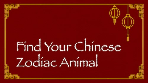 Chinese Zodiac Animal