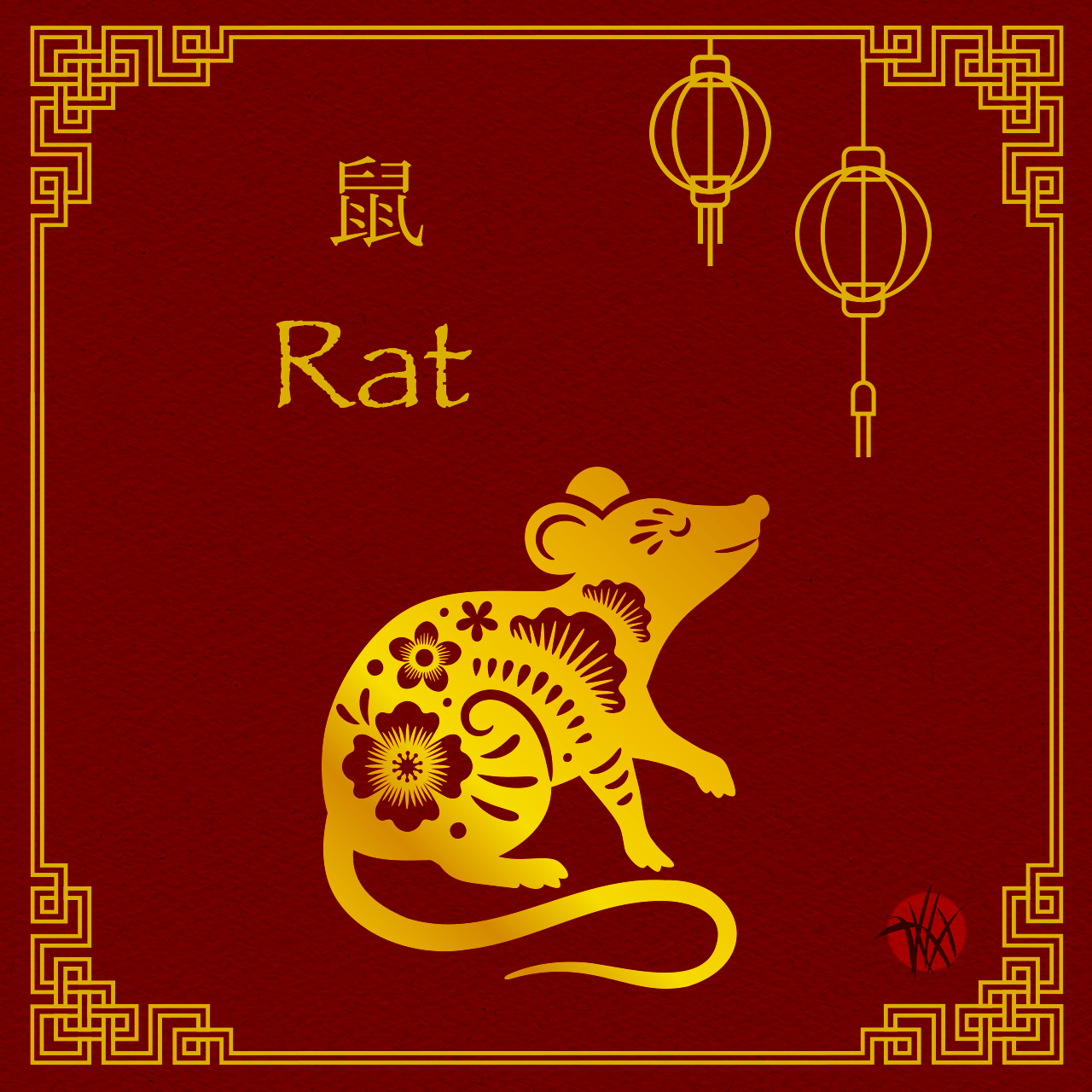 Chinese New Year: Year of the White Rat 2020