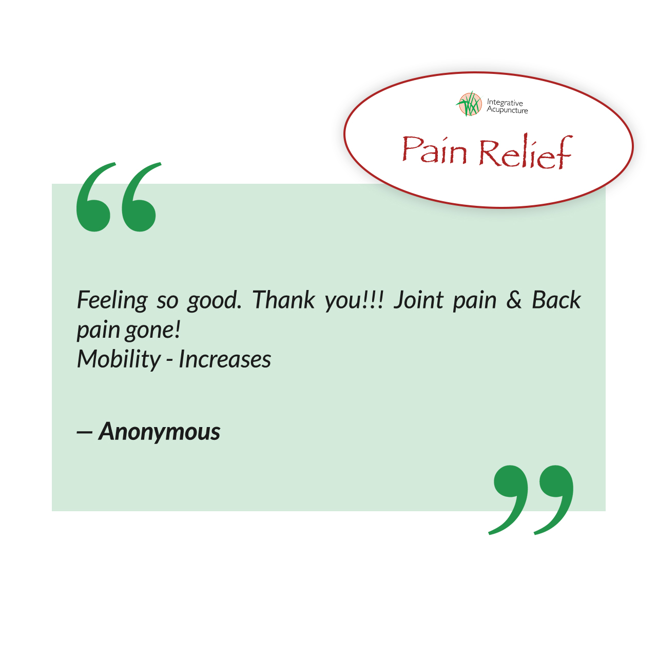 Acupuncture - Pain Relief