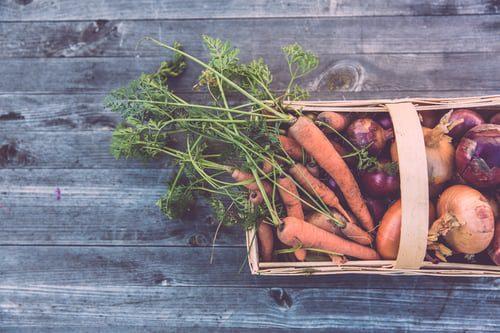 Root Vegetables in a Basket